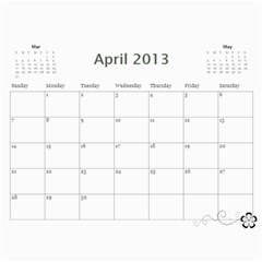 2013 Calendar 12 Mos Black & White By Angel   Wall Calendar 11  X 8 5  (12 Months)   5q5nh0iw012l   Www Artscow Com Apr 2013