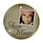 Christmas Manger Ornament clear - Ornament (Round)