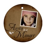 Christmas Manger Ornament  - Ornament (Round)