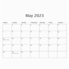 Calendar Template  Beautiful You By Jennyl   Wall Calendar 11  X 8 5  (12 Months)   Antqs6olyr1n   Www Artscow Com May 2017