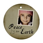 Christmas Peace Earth Ornament Clear - Ornament (Round)