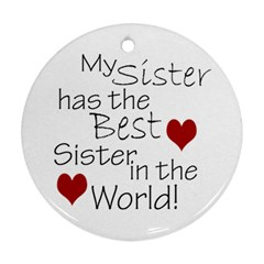 Round Sisters Ornament By Amanda Bunn   Round Ornament (two Sides)   Tfxyjy3rs8n2   Www Artscow Com Back