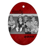 Oval Family 2010 Ornament - Ornament (Oval)