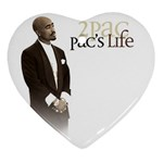 2Pac-Pacs Life Ornament (Heart)
