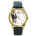 2Pac-Pacs Life Round Gold Metal Watch