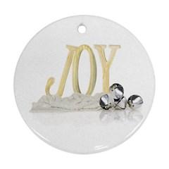 Joy  By Brenda   Round Ornament (two Sides)   Kmlm2wg1awkz   Www Artscow Com Front