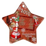 Angel Blonde Remember when 2010 ornament 31 - Ornament (Star)