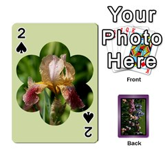 Iris 54 Design Card Deck Purple By Ellan   Playing Cards 54 Designs   H8ric8u3l2ao   Www Artscow Com Front - Spade2