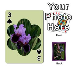 Iris 54 Design Card Deck Purple By Ellan   Playing Cards 54 Designs   H8ric8u3l2ao   Www Artscow Com Front - Spade3