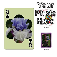 Queen Iris 54 Design Card Deck Purple By Ellan   Playing Cards 54 Designs   H8ric8u3l2ao   Www Artscow Com Front - SpadeQ