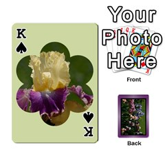 King Iris 54 Design Card Deck Purple By Ellan   Playing Cards 54 Designs   H8ric8u3l2ao   Www Artscow Com Front - SpadeK