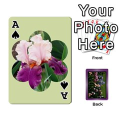 Ace Iris 54 Design Card Deck Purple By Ellan   Playing Cards 54 Designs   H8ric8u3l2ao   Www Artscow Com Front - SpadeA