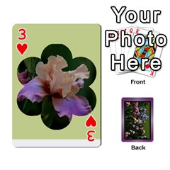 Iris 54 Design Card Deck Purple By Ellan   Playing Cards 54 Designs   H8ric8u3l2ao   Www Artscow Com Front - Heart3
