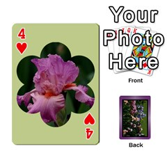 Iris 54 Design Card Deck Purple By Ellan   Playing Cards 54 Designs   H8ric8u3l2ao   Www Artscow Com Front - Heart4