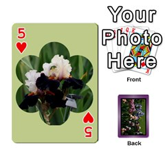 Iris 54 Design Card Deck Purple By Ellan   Playing Cards 54 Designs   H8ric8u3l2ao   Www Artscow Com Front - Heart5