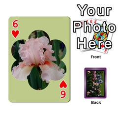 Iris 54 Design Card Deck Purple By Ellan   Playing Cards 54 Designs   H8ric8u3l2ao   Www Artscow Com Front - Heart6