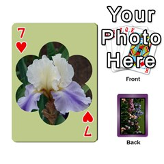 Iris 54 Design Card Deck Purple By Ellan   Playing Cards 54 Designs   H8ric8u3l2ao   Www Artscow Com Front - Heart7