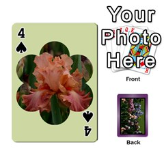 Iris 54 Design Card Deck Purple By Ellan   Playing Cards 54 Designs   H8ric8u3l2ao   Www Artscow Com Front - Spade4