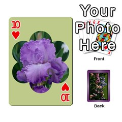Iris 54 Design Card Deck Purple By Ellan   Playing Cards 54 Designs   H8ric8u3l2ao   Www Artscow Com Front - Heart10