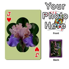 Jack Iris 54 Design Card Deck Purple By Ellan   Playing Cards 54 Designs   H8ric8u3l2ao   Www Artscow Com Front - HeartJ