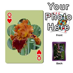 Queen Iris 54 Design Card Deck Purple By Ellan   Playing Cards 54 Designs   H8ric8u3l2ao   Www Artscow Com Front - HeartQ