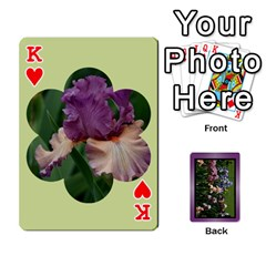 King Iris 54 Design Card Deck Purple By Ellan   Playing Cards 54 Designs   H8ric8u3l2ao   Www Artscow Com Front - HeartK