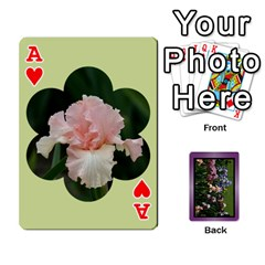 Ace Iris 54 Design Card Deck Purple By Ellan   Playing Cards 54 Designs   H8ric8u3l2ao   Www Artscow Com Front - HeartA