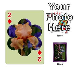Iris 54 Design Card Deck Purple By Ellan   Playing Cards 54 Designs   H8ric8u3l2ao   Www Artscow Com Front - Diamond2