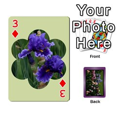 Iris 54 Design Card Deck Purple By Ellan   Playing Cards 54 Designs   H8ric8u3l2ao   Www Artscow Com Front - Diamond3