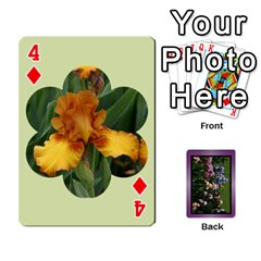 Iris 54 Design Card Deck Purple By Ellan   Playing Cards 54 Designs   H8ric8u3l2ao   Www Artscow Com Front - Diamond4