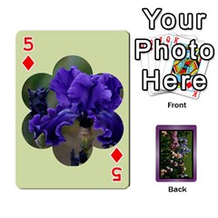 Iris 54 Design Card Deck Purple By Ellan   Playing Cards 54 Designs   H8ric8u3l2ao   Www Artscow Com Front - Diamond5