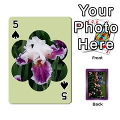 Iris 54 Design Card Deck Purple By Ellan   Playing Cards 54 Designs   H8ric8u3l2ao   Www Artscow Com Front - Spade5