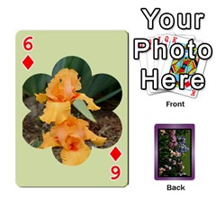 Iris 54 Design Card Deck Purple By Ellan   Playing Cards 54 Designs   H8ric8u3l2ao   Www Artscow Com Front - Diamond6