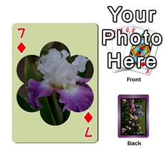 Iris 54 Design Card Deck Purple By Ellan   Playing Cards 54 Designs   H8ric8u3l2ao   Www Artscow Com Front - Diamond7