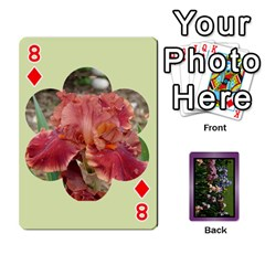 Iris 54 Design Card Deck Purple By Ellan   Playing Cards 54 Designs   H8ric8u3l2ao   Www Artscow Com Front - Diamond8