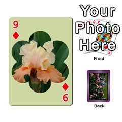 Iris 54 Design Card Deck Purple By Ellan   Playing Cards 54 Designs   H8ric8u3l2ao   Www Artscow Com Front - Diamond9