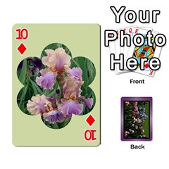 Iris 54 Design Card Deck Purple By Ellan   Playing Cards 54 Designs   H8ric8u3l2ao   Www Artscow Com Front - Diamond10