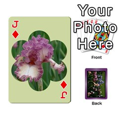 Jack Iris 54 Design Card Deck Purple By Ellan   Playing Cards 54 Designs   H8ric8u3l2ao   Www Artscow Com Front - DiamondJ