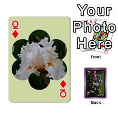 Queen Iris 54 Design Card Deck Purple By Ellan   Playing Cards 54 Designs   H8ric8u3l2ao   Www Artscow Com Front - DiamondQ