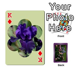 King Iris 54 Design Card Deck Purple By Ellan   Playing Cards 54 Designs   H8ric8u3l2ao   Www Artscow Com Front - DiamondK