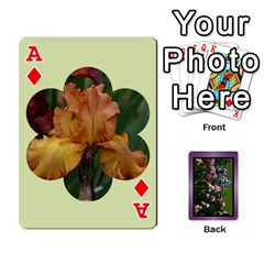 Ace Iris 54 Design Card Deck Purple By Ellan   Playing Cards 54 Designs   H8ric8u3l2ao   Www Artscow Com Front - DiamondA