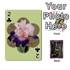Iris 54 Design Card Deck Purple By Ellan   Playing Cards 54 Designs   H8ric8u3l2ao   Www Artscow Com Front - Club2
