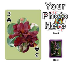Iris 54 Design Card Deck Purple By Ellan   Playing Cards 54 Designs   H8ric8u3l2ao   Www Artscow Com Front - Club3