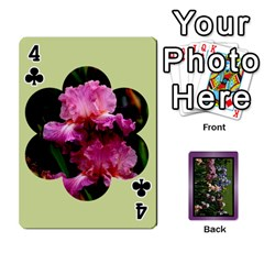 Iris 54 Design Card Deck Purple By Ellan   Playing Cards 54 Designs   H8ric8u3l2ao   Www Artscow Com Front - Club4