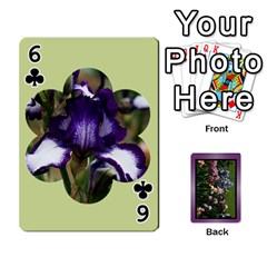 Iris 54 Design Card Deck Purple By Ellan   Playing Cards 54 Designs   H8ric8u3l2ao   Www Artscow Com Front - Club6