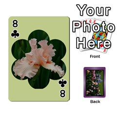 Iris 54 Design Card Deck Purple By Ellan   Playing Cards 54 Designs   H8ric8u3l2ao   Www Artscow Com Front - Club8