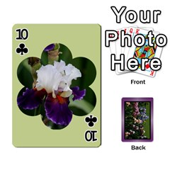 Iris 54 Design Card Deck Purple By Ellan   Playing Cards 54 Designs   H8ric8u3l2ao   Www Artscow Com Front - Club10