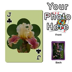 Jack Iris 54 Design Card Deck Purple By Ellan   Playing Cards 54 Designs   H8ric8u3l2ao   Www Artscow Com Front - ClubJ