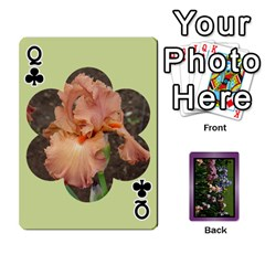 Queen Iris 54 Design Card Deck Purple By Ellan   Playing Cards 54 Designs   H8ric8u3l2ao   Www Artscow Com Front - ClubQ