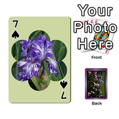 Iris 54 Design Card Deck Purple By Ellan   Playing Cards 54 Designs   H8ric8u3l2ao   Www Artscow Com Front - Spade7